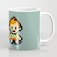 earthbound Mugs featuring Lucas and Claus - Mother 3 by Studio Momo╰༼ ಠ益ಠ ༽