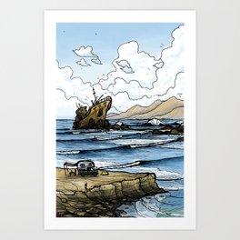Wild West Coast Art Print
