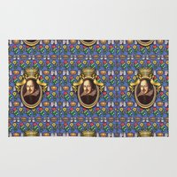 shakespeare Area & Throw Rugs featuring William Shakespeare by Glenn Designs