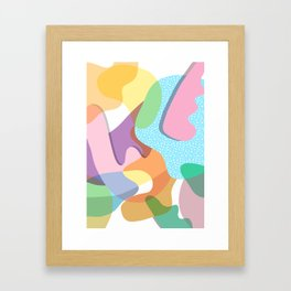 Matisse Colorful Organic Shapes Framed Art Print
