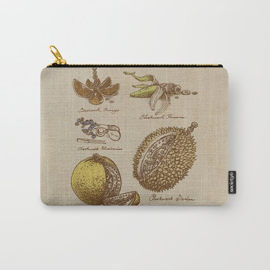 Steampunk Fruit  Carry-All Pouch