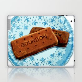Bourbon biscuits on a plate for tea time Laptop & iPad Skin