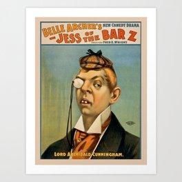 Vintage poster - Lord Archibald Cunningham Art Print