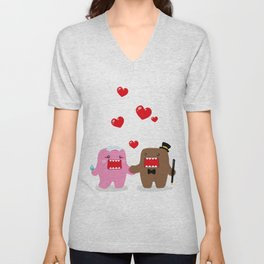 A Very Domo Wedding Unisex V-Neck