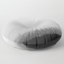 The Old City - Black and White Floor Pillow