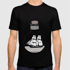 The ship in the bulb Black Mens Fitted Tee MEDIUM