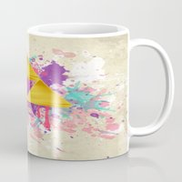 triforce Mugs featuring Splash Triforce by Brittany