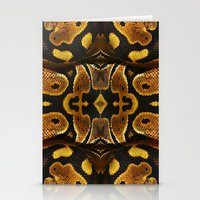 monty python Stationery Cards featuring Ball Python by Moody Muse
