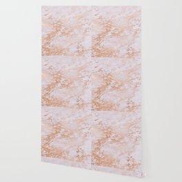 Pastel Lavender Marble Rosegold Glitter Pink Wallpaper
