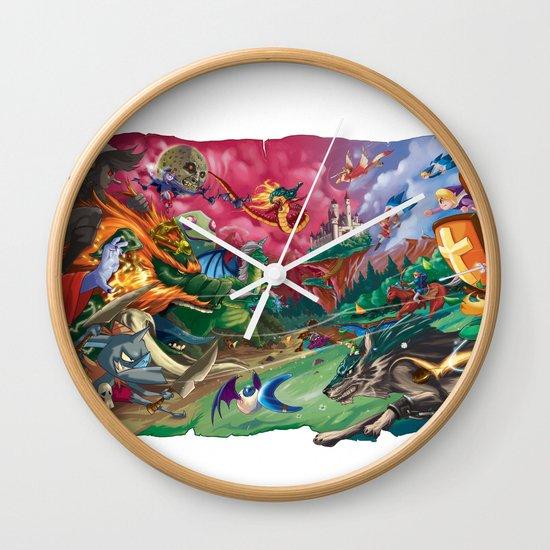 Zelda Mash Up Wall Clock