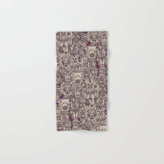 gargoyles purple Hand & Bath Towel
