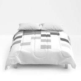 Gray Scale In Pixels Comforters