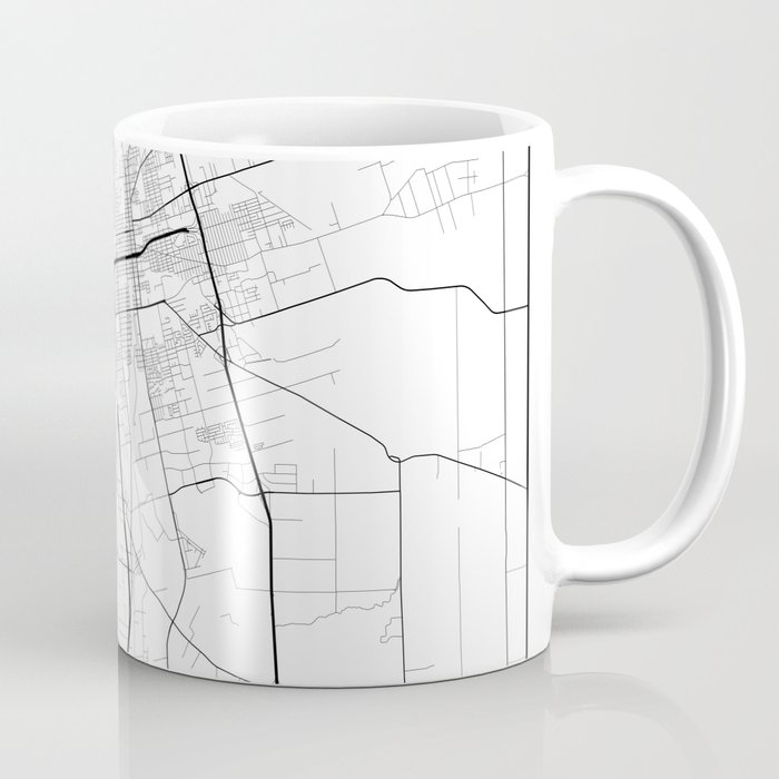 Minimal City Maps - Map Of Stockton, California, United States Coffee Mug  by valsymot