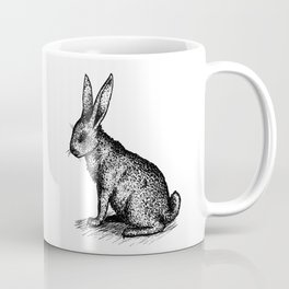 Rabbit in Ink Coffee Mug