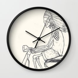 Indian Rider Wall Clock