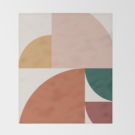 Abstract Geometric 10 Throw Blanket