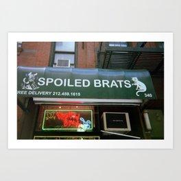 Spoiled Brats Art Print