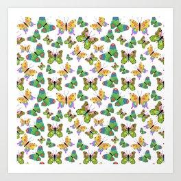 Butterflies in harmony Art Print