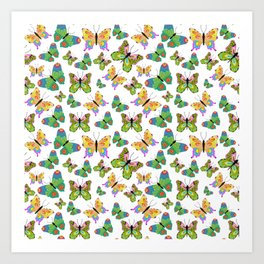 Butterflies in harmony Art Print