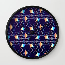 Holographic Cubes Wall Clock
