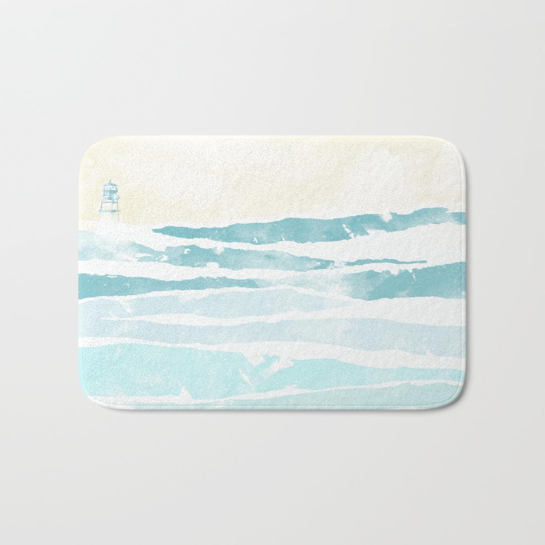 lighthouse bath mats | society6