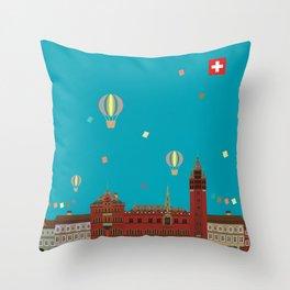 Basel Rathaus Festival Throw Pillow