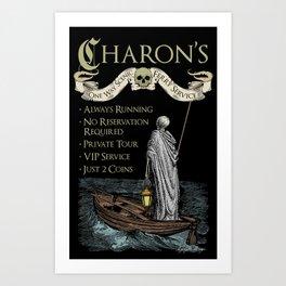 Charon's Ferry Service Art Print