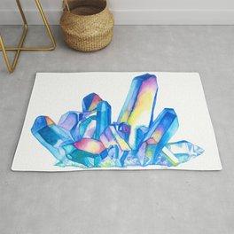 Rainbow Crystal Cluster - Watercolor Rug