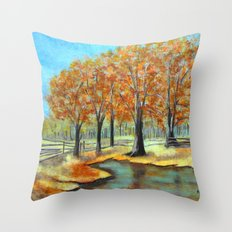 Autumn landscape 3 Throw Pillow