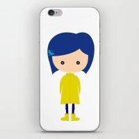 coraline iPhone & iPod Skins featuring Coraline by Creo tu mundo