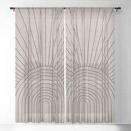 Boho Minimalistic Art Sheer Curtain