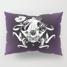 The Skull the Flowers and the Snail Pillow Sham