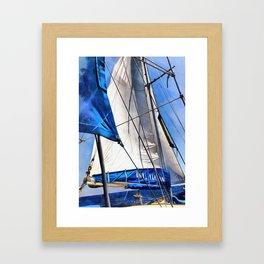 A Sailor Is An Artist And His Medium The Wind Framed Art Print