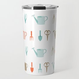 AFE Gardening Tools Pattern Travel Mug