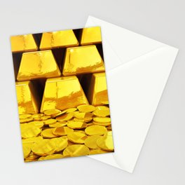 Gold investment Stationery Cards