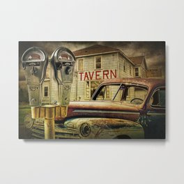 Expired Parking Meters by Tavern Metal Print