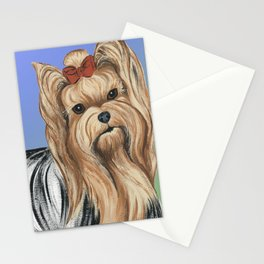 Yorkshire Terrier - Yorkie- by Nina Lyman of Dogs By Nina Stationery Cards