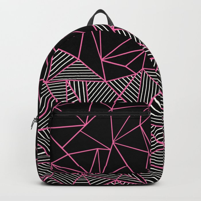 Ab Half an Half Black and Pink Backpack