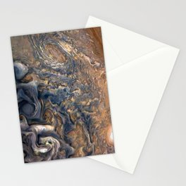 Swirling Clouds of Planet Jupiter Close Up from Juno Cam Stationery Cards