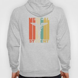 Vintage 1970's Style Medical School Student Graphic Hoody