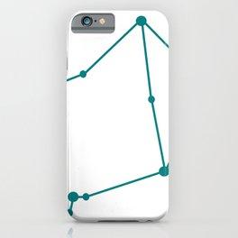 Libra (Teal & White) iPhone Case