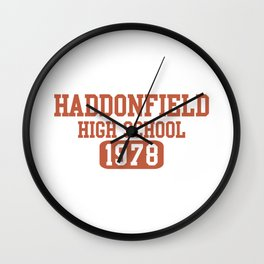 HADDONFIELD HIGH SCHOOL 1978 Wall Clock