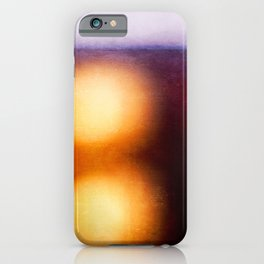 Abstract Composition In The Neon Light iPhone Case