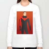 nightwing Long Sleeve T-shirts featuring Nightwing by pablosiano
