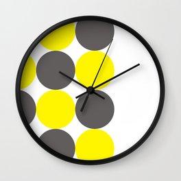 Yellow Circles Wall Clock