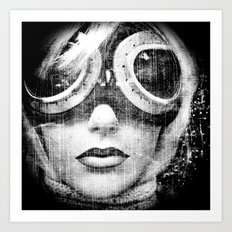 Cosmic rays were relentlessly bombarding the planet ... Fall fashion was in full swing Art Print