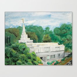 Fukuoka Japan LDS Temple Canvas Print