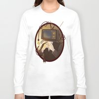 tv Long Sleeve T-shirts featuring TELEVISION by FISHNONES
