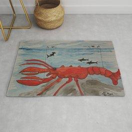 The Monster Lobster Rug