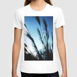 Feeling Free #1 #grasses #BlueSky #art #society6 T-shirt
